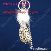 Sell Crystal Key Ring, Leather Bag , Wholesale Leather Key Chain