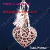 Sell metal keychain, necklace keychain, enamel keychain, birthstone