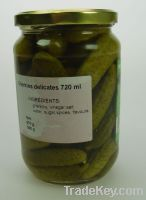 Sell 10 Trucks of Cucumber 720ml I class - Gherkins