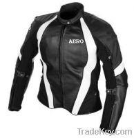 Motorcycle Ladies Leather Jacket
