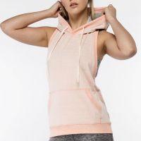 Latest Pro Gym Sports Women Sleevless Hoodie Tank