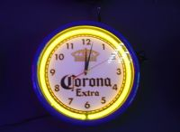 CORONA  clock  neon sign
