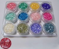 Sell 12 Colors Crushed Shell Powder Acrylic for Nail Art decoration