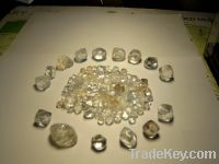 Uncut/Rough diamonds and gold dust, bar For sell