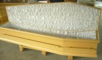 Sell wooden coffins stock