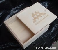 Sell wooden box with slide lid