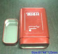 Sell  tea tin can, tin box, tinplate printing
