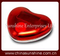 LCD heart shape clock