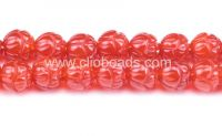 Sell Carnelian Carved Lotus Flower Beads