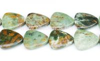 Green Opal Triangle Beads