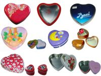 Sell various of heart shape tin cans