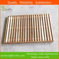 Chinese Manufacturer Acacia Wooden Bath Mat
