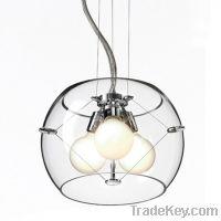 open top glass shade pendant light/M9019