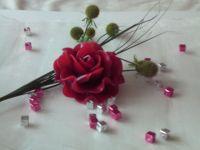 A big nice rose flating candle