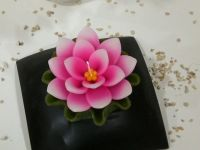 Scented handmade large lotus floating candle
