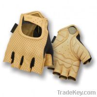 leather Half Finger Cycle Gloves