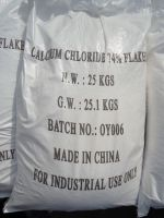Sell CALCIUM chloride white flakes