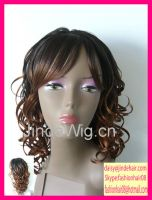 JinDe 2 tone color synthetic hair wig