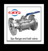3pc flange connection ball valve