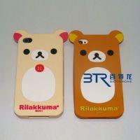 Sell Die Cut Cover Rilakkuma Bear TPU Soft Case for iPhone 4g