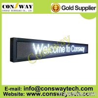 Sell CE approved led outdoor advertising board with white color and scroll