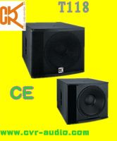 Sell PA speaker box speaker cabinets low throw subass T-118