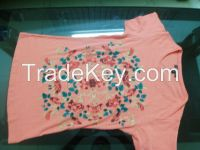 Girls painted T shirt