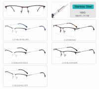 wholesale half rim Optical Frames metal eyeglasses 190G