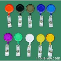Sell Retractable badge holder with clear vinyl strip