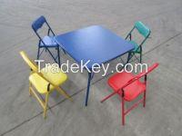 children folding table set
