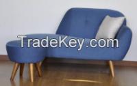 fabric chaise longue