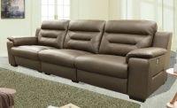 genuine leather reclining sofa