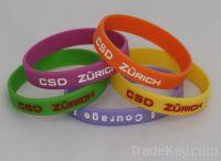 Promotion silicone wristband/bracelet