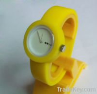 2012 hot sell silicone oclock watch
