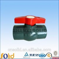 grey PVC ball valve