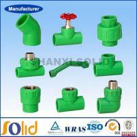 Green color ppr pipe fittings