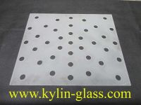 glass panel with holes
