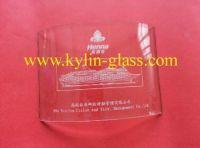 glass panel with printing