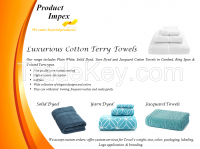 Luxurious Cotton Terry Towels