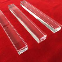 Square polishing clear quartz glass rod