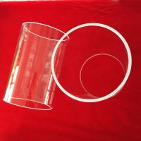two ends open large diameter clear quartz glass tube