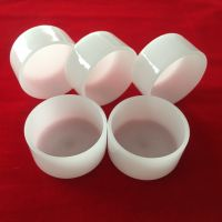 flat bottom cylinder milky white melting quartz crucible