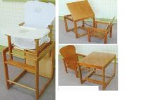 Sell wooden baby high chair-308