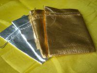 Sell gold lurex bag, drawstring bag  110415-7