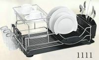 dish rack with plastic tray 1111