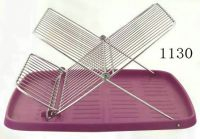 dish rack with plastic tray 1130