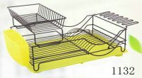 dish rack with plastic tray 1132