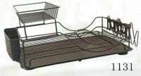 dish rack with plastic tray 1131