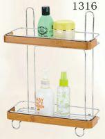 bathroom rack with bamboo 1316