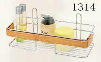 bathroom rack with bamboo 1314